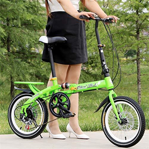 """TYXTYX Bicicleta Plegable, 6 velocidades, neumáticos 16"""", Vintage,Boy Adultos y Chica de la Bicicleta de la Bicicleta Infantil,Adulto, Unisex"""