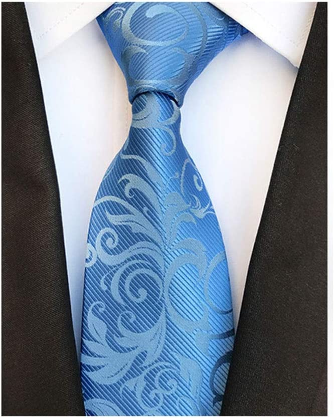 JJZXC Business Silk Men's Tie Neck Strip Ties for Men Formal Wedding Neckties (Color : B)