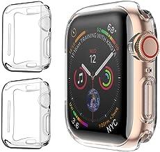 PEYOU Funda para Apple Watch 40mm Series 4/Series 5 (2 Unidades), Suave TPU Funda [Cobertura Completa] [Ultra Delgado][HD Claro ][Anti-Arañazos] para Apple Watch Series 4/Series 5 (40mm)