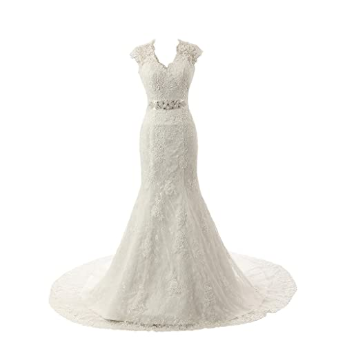 69c686404fd Ubridal Real Pictures Embroidery Lace Mermaid Court Wedding Dresses Bridal  Gowns
