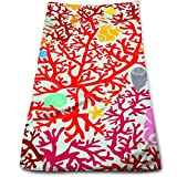 Coral Reefs and Marine Life Multi-Purpose Microfiber Towel Ultra Compact Super Absorbent and Fast Drying Sports Towel Travel Towel Beach Towel Perfect for Camping, Gym, Swimming.