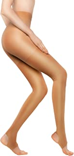 +MD 15-20mmHg Women's Open Toe Compression Pantyhose Stirrup Medical Quality Compressive Stocking Nudes