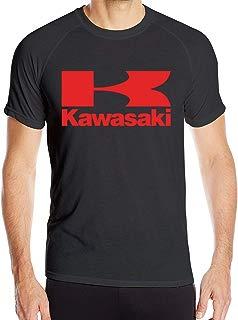 Liuliangjiankang Men's Kawasaki Motorcycles Logo Quick Drying Sports T Shirts Breathable Sports Tee