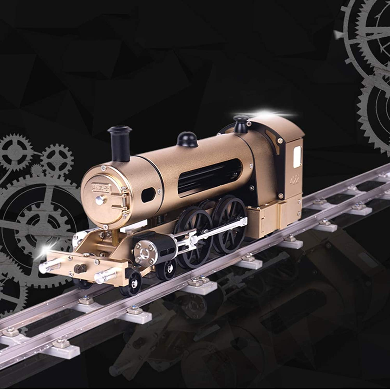 XIEJI Dampfzug Montage Elektrisches Metallmodell Erwachsen ist schwer Lernspielzeug Kreatives Geschenk