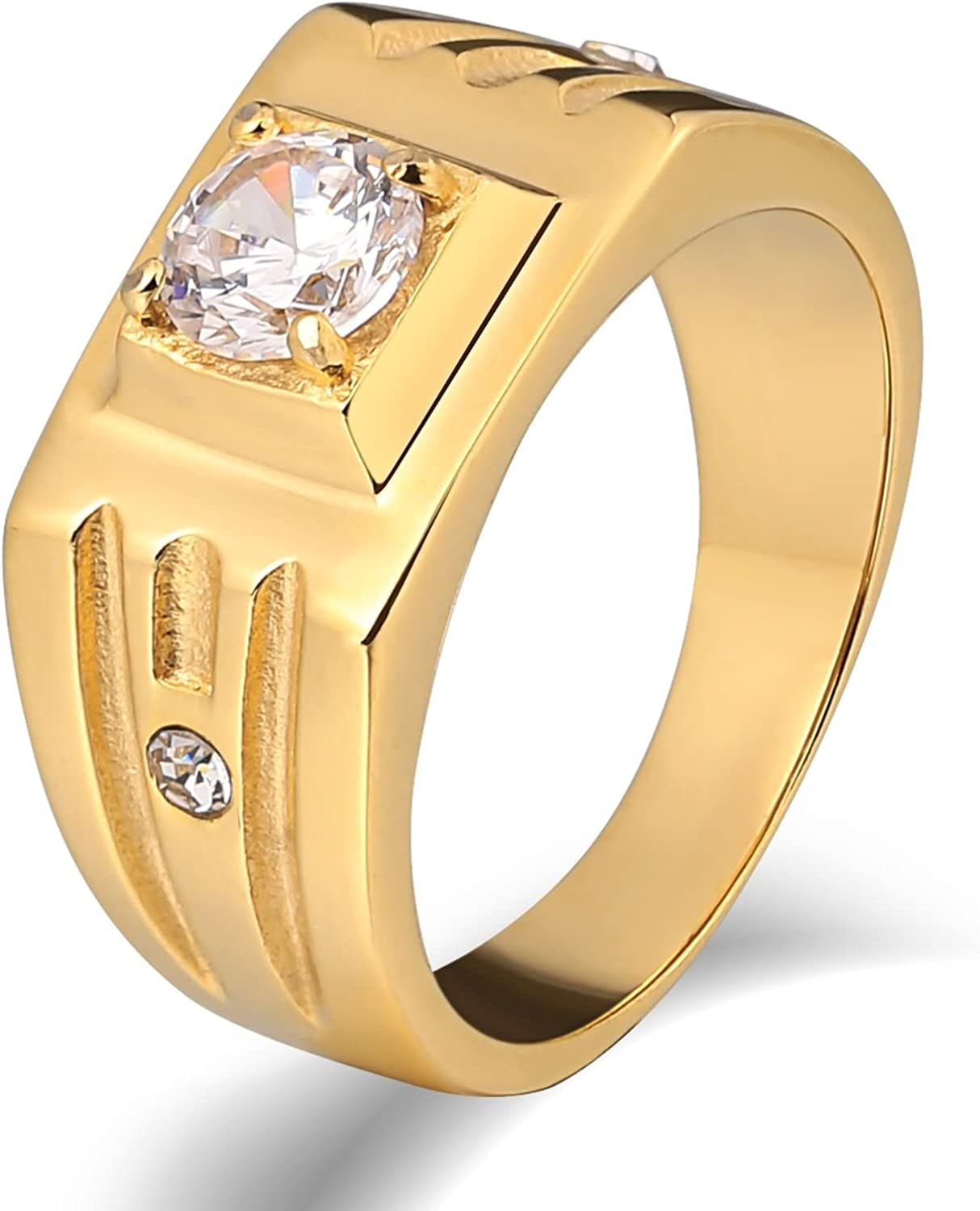 Epinki Popular brand 4 years warranty in the world Stainless Steel for Men Punk Cubic Rings Zi High Polished