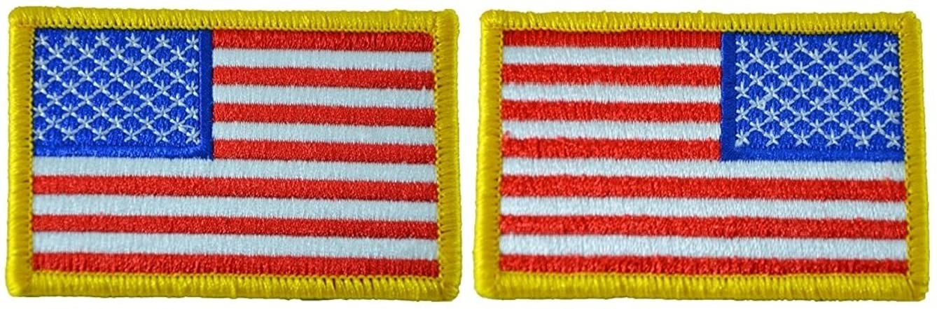 Tactical USA Flag Patch and Reverse USA Flag Patch - American Flag 2