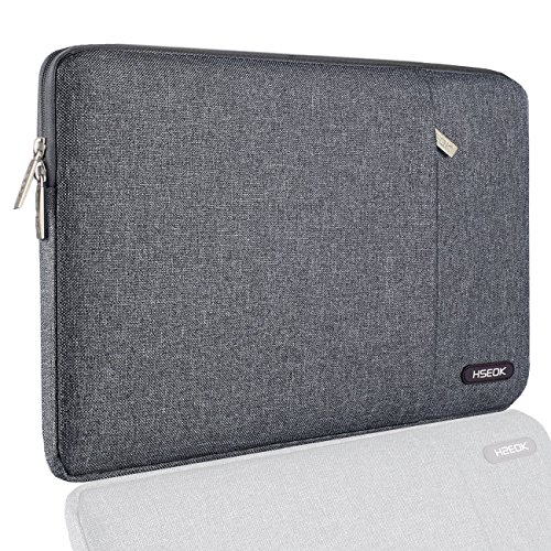 HSEOK 13-13.3 Inch MacBook Air (2012-2017) / MacBook Pro Retina(2012-2015)/Pro A1278(2012) Laptop Sleeve Case Environmental-Friendly Spill-Resistant Sleeve and Most 14 Inch Laptop, Linen Gray