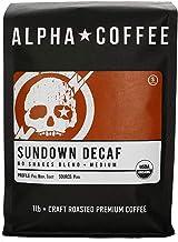 Alpha Coffee - Sundown Decaf | 16 oz. Premium Gourmet Craft Medium Roast Ground Coffee | Veteran Owned - 100% Arabica No S...