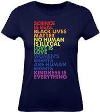 Green Turtle T-Shirts Camiseta para Mujer - Ropa LGTB Orgullo Bandera Gay - No Human is Illegal