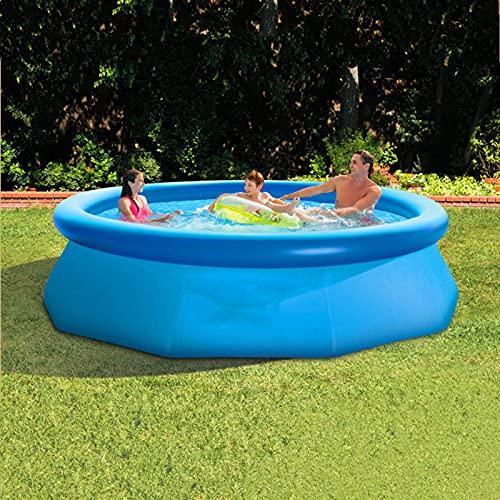 LXDZXY Aufblasbares Schwimmbecken, kreisförmiges Kinderbecken im Freien mit 3 m Durchmesser, geeignet für Kinder, Erwachsene und Wasserpartys,2.44 * 0.76m
