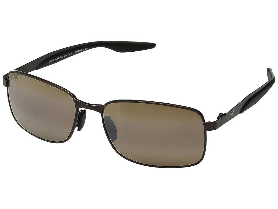 Maui Jim Shoal (Matte Brown/HCL Bronze) Sport Sunglasses