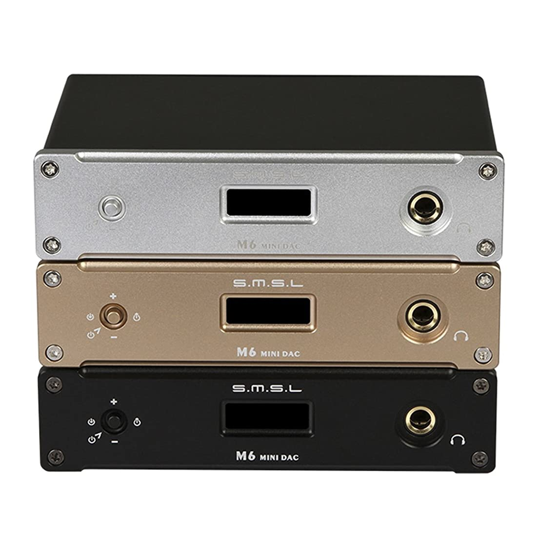 中絶分布糸SMSL M6 ヘッドホンアンプ DAC デコーダー MOUSAI 32Bit/384KHz (ゴールド)