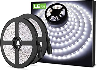 LE Tira LED Cadena de Luces 5m 300 LED SMD 2835 Blanco Frío No Impermeable 6000K para Techo Escaparate Muebles etc. ...