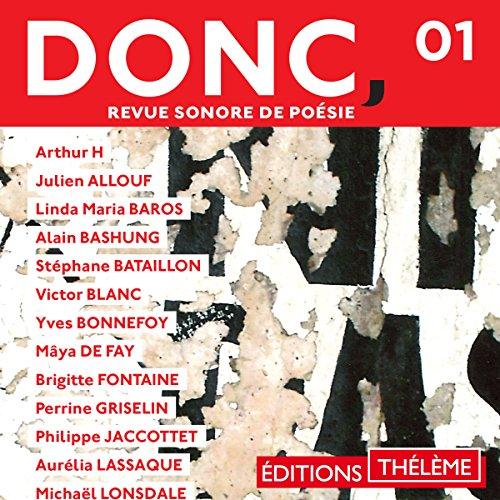 Couverture de DONC, Revue sonore de poésie 1