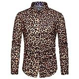 Sweatshirt Rundhals Oberteile Lilicat Herren Langarmshirt Winter Bluse Mode Leopard Gedruckt Bluse...