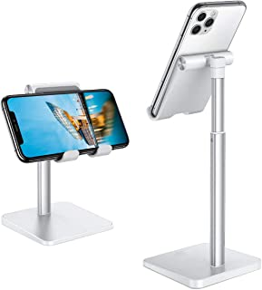 Cell Phone Stand, WORLDMOM Adjustable Angle Height Phone Holder Stand for Desk, Compatible with iPhone 13/13 mini/13 Pro/1...
