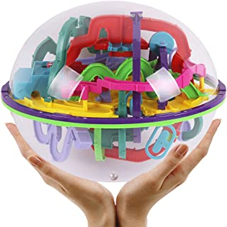 Starabu 299 Challenging Levels Magic 3D Maze Ball Interesting Labyrinth Puzzle Game Globe Toys