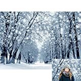 Allenjoy 7x5ft Winter Forest Backdrop Beautiful Nature Snowy Wonderland Scenery Landscape Photography Background for Kids Family Christmas Bokeh Outdoor Party Decor Banner Portrait Photo Booth Props