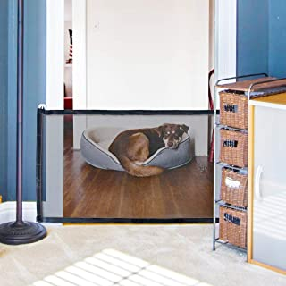 Pet Gate,Magic Gate,Portable Folding Mesh Guard Pet Safety Gates Baby Safety Fence 70.9