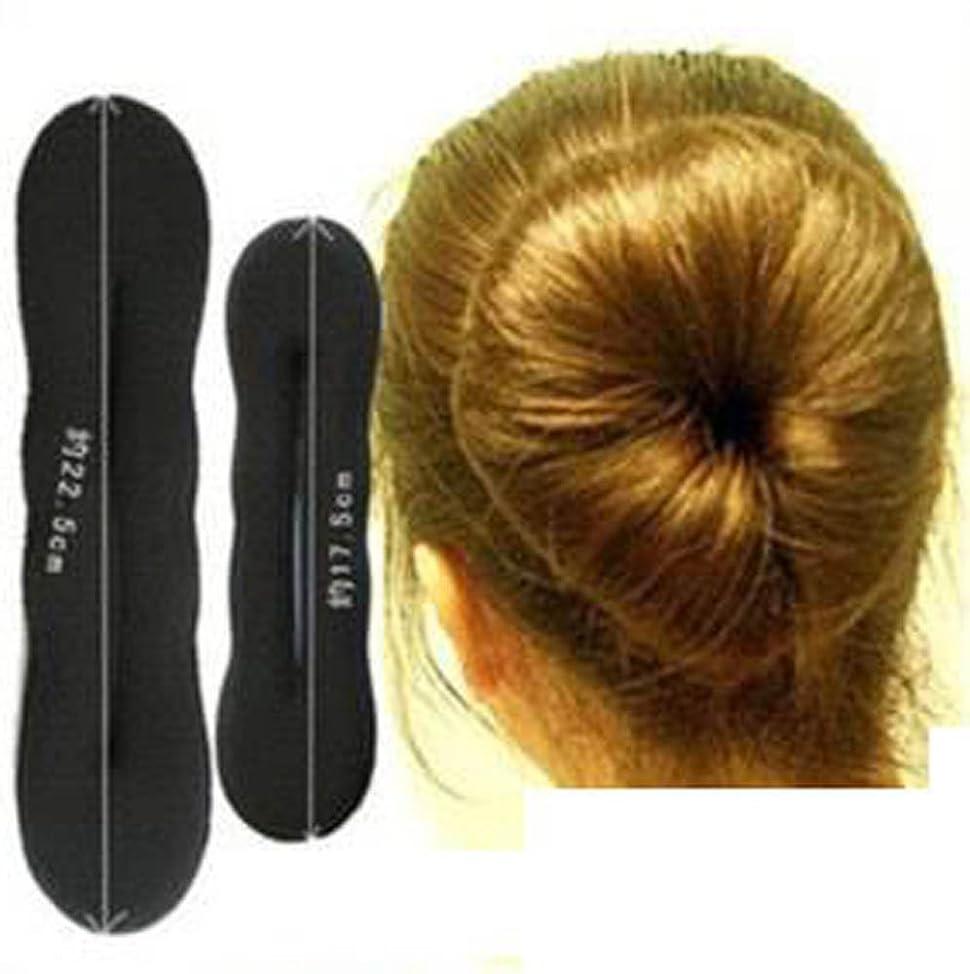 2pc Sponge Bun Clip Maker Former Foam Twist Hair Style Tool L S NEW qwrzhiai172
