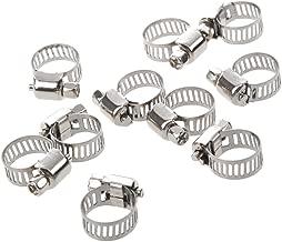 SODIAL(R) 10 x Collier de serrage a vis de tuyau de l'eau avec 6-12mm de cerceau Ton argent