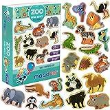 MAGDUM Magnets enfants animaux de ZOO – véritables GRANDS magnets frigo pour les tout-petits – Jouets enfant jusqu'à 3 ans - Aimants enfants éducatifs - Animaux magnétiques jungle - THÉÂTRE Magnétique