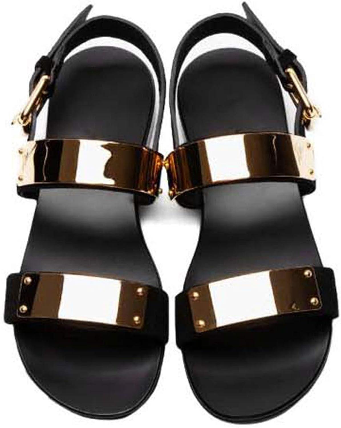 Genuine Leather Men Sandalias shoes women Rome Rock Sandal shoes, US6-10