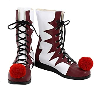 PW Boots Classic Horror Movie Cosplay Hallloween Red & White Shoes