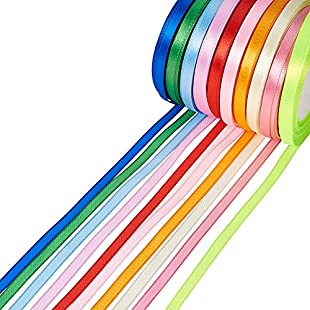 Customer reviews Pandahall 10 Rolls New Arrivals 6mm Satin Ribbon, Mixed Color, 25yards/roll, 10 rolls/group, 250yards/group:Animewalk