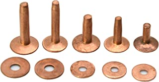 Brass Rivets And Burrs 1//2 #12 75 Per Pack 11280-21 By Tandy Leather