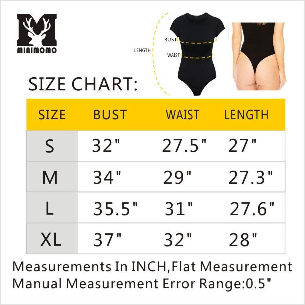 Womens Bodysuit Mock Turtle Neck//Scoop Neck Short Sleeve//Long Sleeve Stretchy Basic Jumpsuits