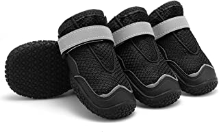 Dog Boots Anti-Slip Breathable Mesh Dog Shoes | Paw Protector with Reflective Velcro and Rugged Sole - Perfect for Small Medium Large Dogs