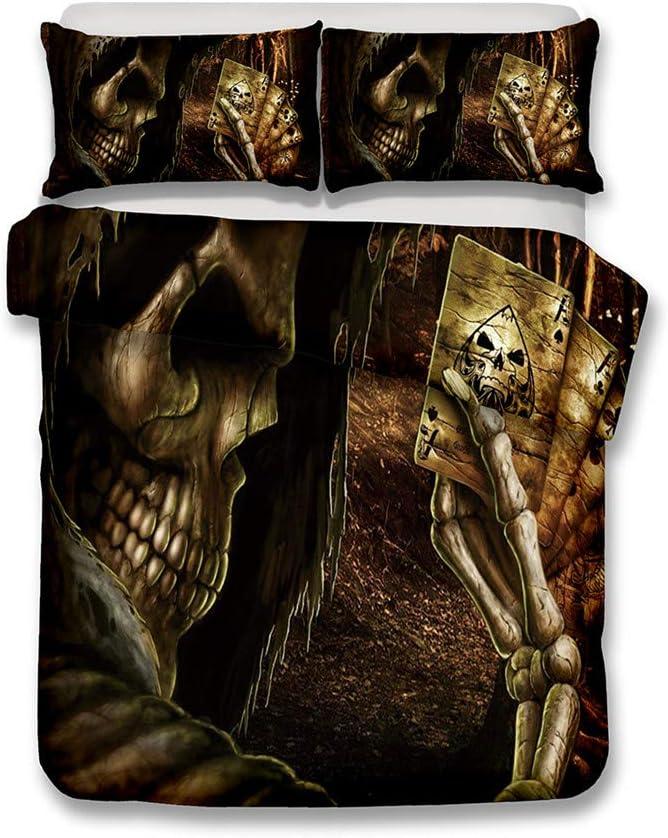 LanS Abstract Human Skeleton Skull 5☆大好評 Duvet Set Bedding Cover 買収