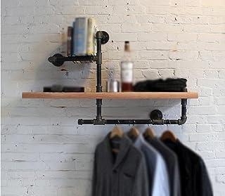 Estantes de Pared Retro Loft Espejo Retro del Estilo Cubierta de exhibición del Hierro Soporte Colgante de Pared Industria...
