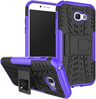 Leather Case for Samsung Galaxy A5 Case,New Dual Layer Hybrid Armor Case Detachable [Kickstand] 2 in 1 Shockproof Tough Ru...