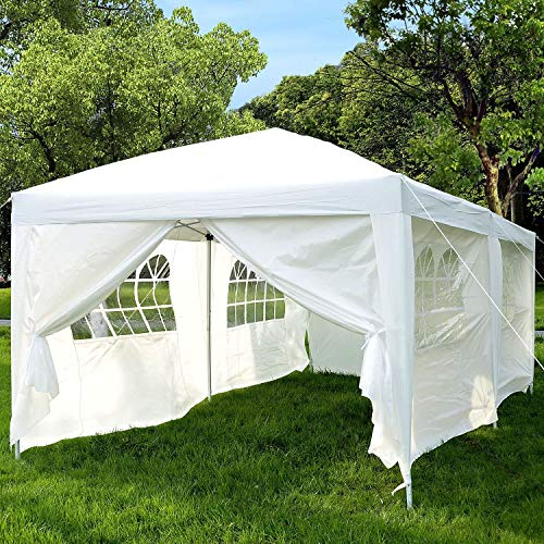 Garden Heavy Duty Pop Up Gazebo, Party Tent Wedding Water Resistant Awning Canopy (Black) With free Storage Bag