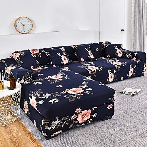 YANJHJY 1 Funda para sofá con diseño de Tiras, Funda de algodón para sofá, Fundas elásticas para sofá, para Sala de Estar, Mascotas, Esquina, Chaise Longue en Forma de L, Cubre sofá, color21,1 Piezas