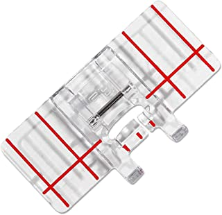 DREAMSTITCH Snap On Border Guide Presser Foot (Parallel Stitch Foot) for Janome,Elna Sewing Machine ALT : 202084206-202084000