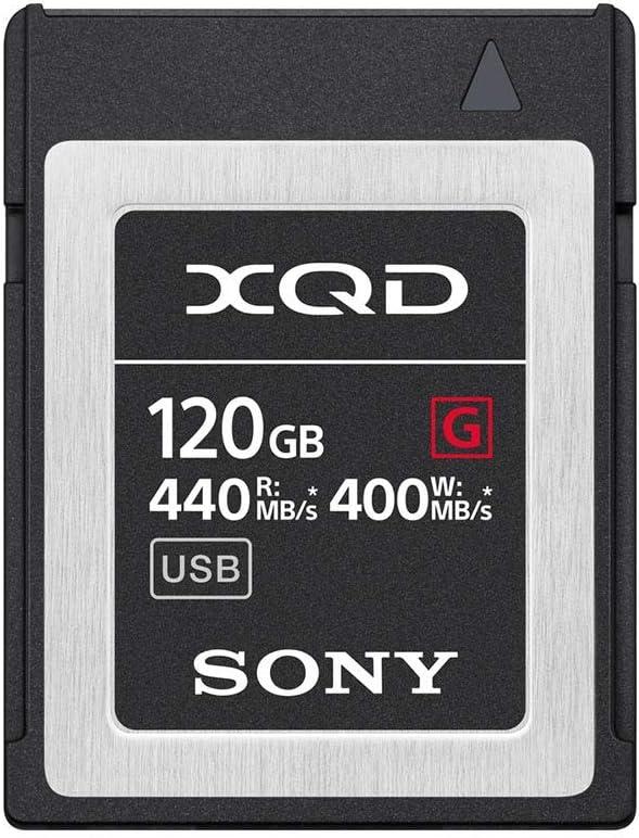 Sony Professional 32GB XQD Memory Card G Series (hasta 440 MB/s de Lectura) con Software de Rescate de Archivos 120 GB