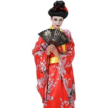 Generique - Disfraz de Geisha Rojo Mujer L: Amazon.es: Juguetes y ...