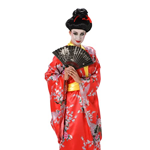 ae481ad67b6 Geisha Ladies Fancy Dress Oriental Japanese National Kimono Womens Adult  Costume (Small UK 8-