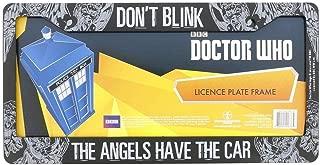 Doctor Who License Plate Frame - Don't Blink Weeping Angel Design 6.25