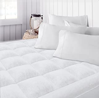 Beckham Hotel Collection Premium Microplush Mattress Pad - Hypoallergenic Ultra Soft Overfilled Topper with Deep Fit - Queen