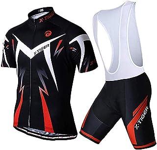 comprar comparacion X-TIGER Hombres de Bicicleta con 5D Gel Acolchado MTB Ciclismo Maillots Tirantes Culotte Pantalones Cortos Culotes