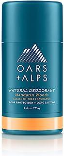 Oars + Alps Natural Deodorant for Men and Women, Aluminum Free and Alcohol Free, Vegan and Gluten Free, Mandarin Woods, 1 ...