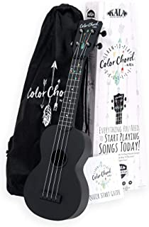 Official Kala Learn To Play Color Chord Ukulele Starter Kit for Beginners - includes a Color Chord Soprano Ukulele, logo t...