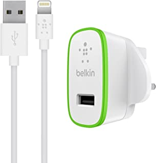 Belkin Fast 2.4 A USB Mains Charger with 1.2 m Lightning Charge and Sync Cable for iPad and iPhone (MFI Approved) - White...