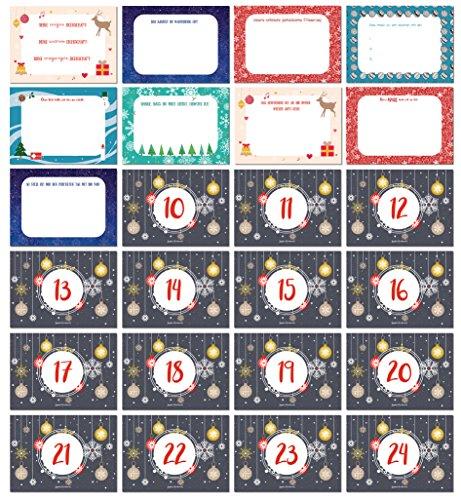 Adventskalender mit 24 individuellen Liebesbotschaften zum Ausfüllen / 24 Postkarten in DIN A6 / Perfekte Geschenkidee für den Lieblingsmenschen - von Sophies Kartenwelt