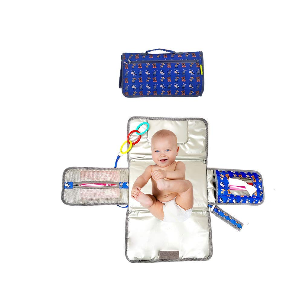 Diaper Changing Pad - BoopIT Waterproof Portable Baby Diaper Changing pad for Infants and Newborns