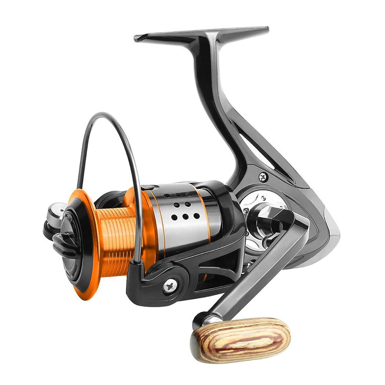圧縮刈り取るとオレンジの釣りリールは、回転リールをロードし、粗いマッチ湖のために、50Kg の大きな魚、ボールベアリング合金のワイヤーカップをドラッグします